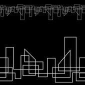 геометрические линии монохромный бесшовные фон — Cтоковый вектор