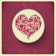Heart in vintage style — Stock Vector #30043651