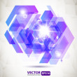 Abstract geometric background with explosion — Vettoriali Stock