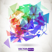 Abstract colorful background with explosion — Stock Vector