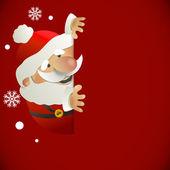 Kerstman met plaats voor uw tekst — Stockvector