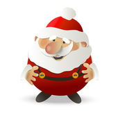 Santa Claus on white background. — Stock Vector