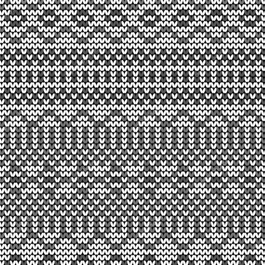 Knitting Pattern Vector Download : Monochrome seamless knitted pattern   Stock Vector ...