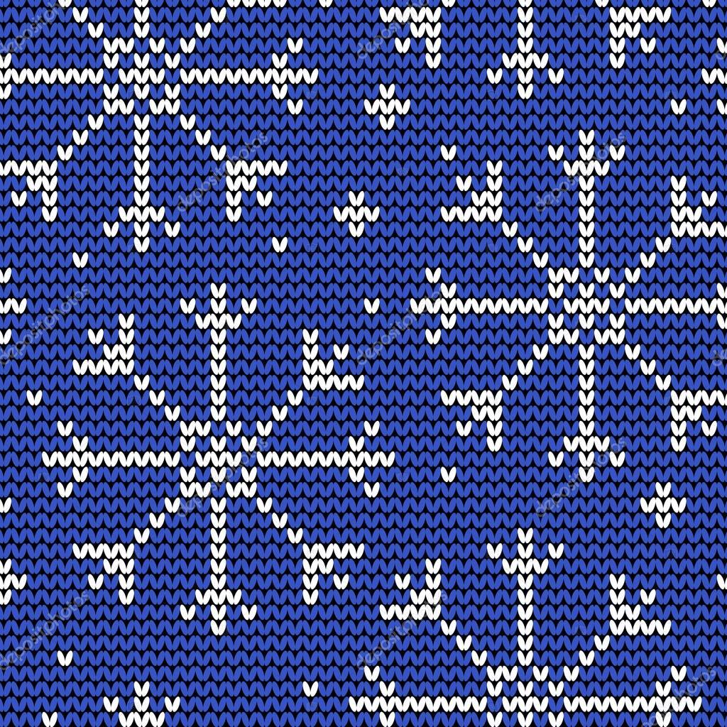 Узоры из снежинок вязание