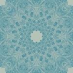 Vector ornamental round lace — Stock Vector