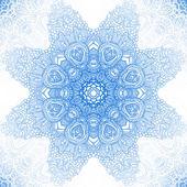 Yuvarlak dantel arka plan mavi kış — Stok Vektör