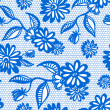 Blue seamless floral vintage lace background — Stock vektor