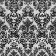 Baroque seamless vintage lace background — Stock Vector