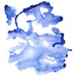 Blue watercolor abstract background — Stock Photo