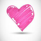 Pink big heart shape — Stock Vector
