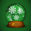 Christmas Snow globe with snowflake — Stock Vector
