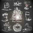 Hand-drawn New Year and Christmas set — Stok Vektör #35570341