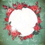 Romantic Vintage Rose Frame — Stock Vector