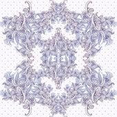 无缝复古背景,巴洛克式模式 — 图库矢量图片