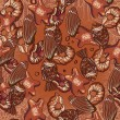Seamless chocolate pattern — Stockvectorbeeld