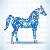 Horse with wings, vector illustration — Vecteur