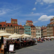 Castle Square in Warsaw, Poland. — Stock Photo