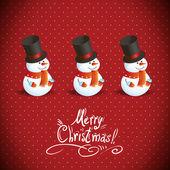 Snowman illustration for Christmas design. — Stock Vector