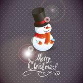 Snowman illustration for Christmas design. — Stockvektor