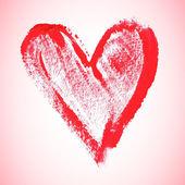Coração vermelho aquarela, ilustração vetorial — Vetor de Stock