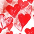 Stock Photo: Seamless watercolor background with hearts