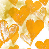 Seamless watercolor background with hearts — Stock Photo