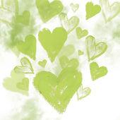Акварельный фон с сердечками — Стоковое фото