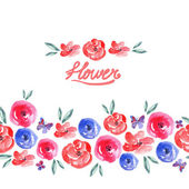 Watercolor Floral Seamless Background — Stock Vector