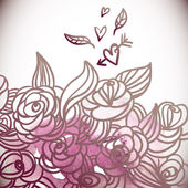 Floral achtergrond, bruiloft kaart — Stockvector