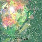 Fondo abstracto geométrico con explosión — Vector de stock