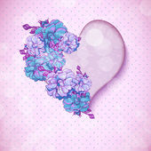 Valentine's day floral background with hearts — Stock vektor