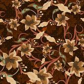 Vintage fond sans couture florale — Vecteur