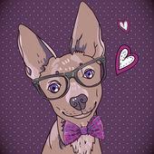 битник фон с собакой — Cтоковый вектор