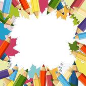 Back to School Vector Design element — Stock Vector