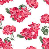 Seamless Pattern with Vintage Roses — Cтоковый вектор