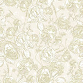 Beautiful Vintage Seamless Roses Background — Vettoriale Stock