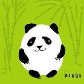 Cute cartoon panda, vector character — Stock Vector