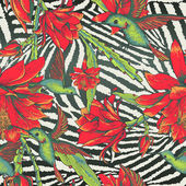 Tropical Seamless vintage floral pattern — Vecteur