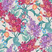 De fondo sin fisuras con los ramos de flores silvestres. — Vector de stock