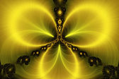 Fractal background - amber art. — Stock Photo