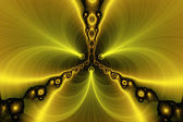 Fractal background - amber illusion. — Stock Photo