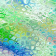 Cracked mosaic background - glass green. — Stock Photo