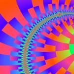 Fractal fairytale - multicolor curve. — Stock Photo #31863569