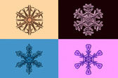 Snowflakes - textured, glossy, isolated...Set 2. For decor and design. — Stock Photo