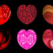 Isolated hearts for your design. Set 1. — Stockfoto #38215929