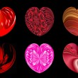 Isolated hearts for your design. Set 1. — Stock Photo