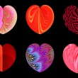 Isolated hearts for your design. Set 3. — Stock Photo