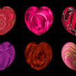 Isolated hearts for your design. Set 6. — Stock Photo
