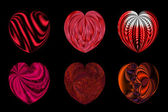 Isolated hearts for your design. Set 5. — Stock Photo