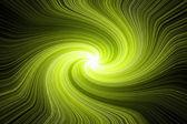 Swirling star - green-yellow. — Stock Photo